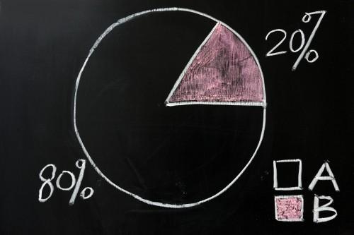 80/20 pie chart