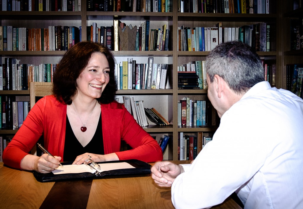 Career coach Felicity Dwyer with a client